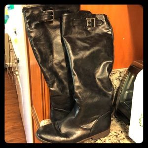 Bamboo black riding boots size 8.5